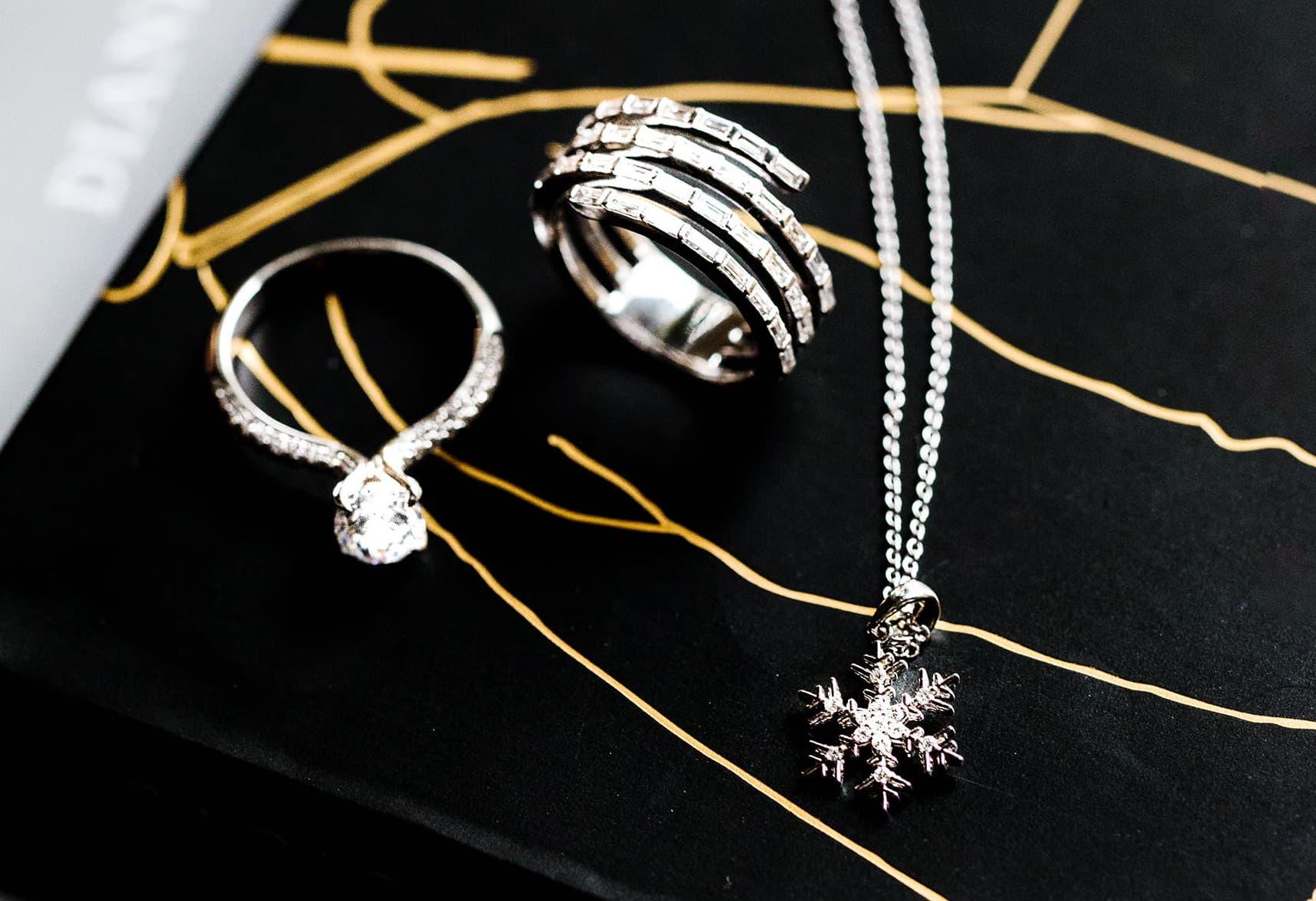 goop picks snowflake pendant oval engagement ring and diamond ring