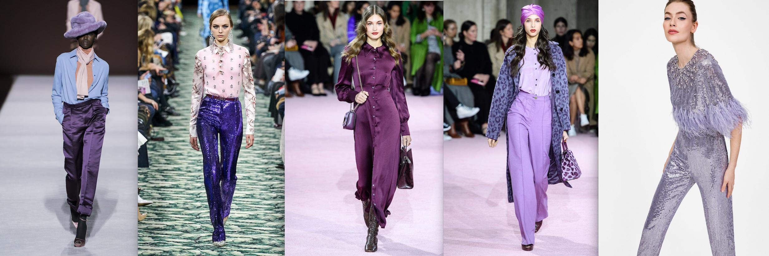 Fall 2019 Designer runway trends purple