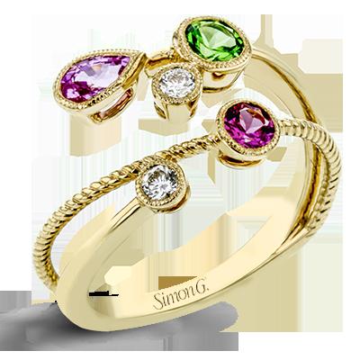 Simon G. spinel gemstone yellow gold ring