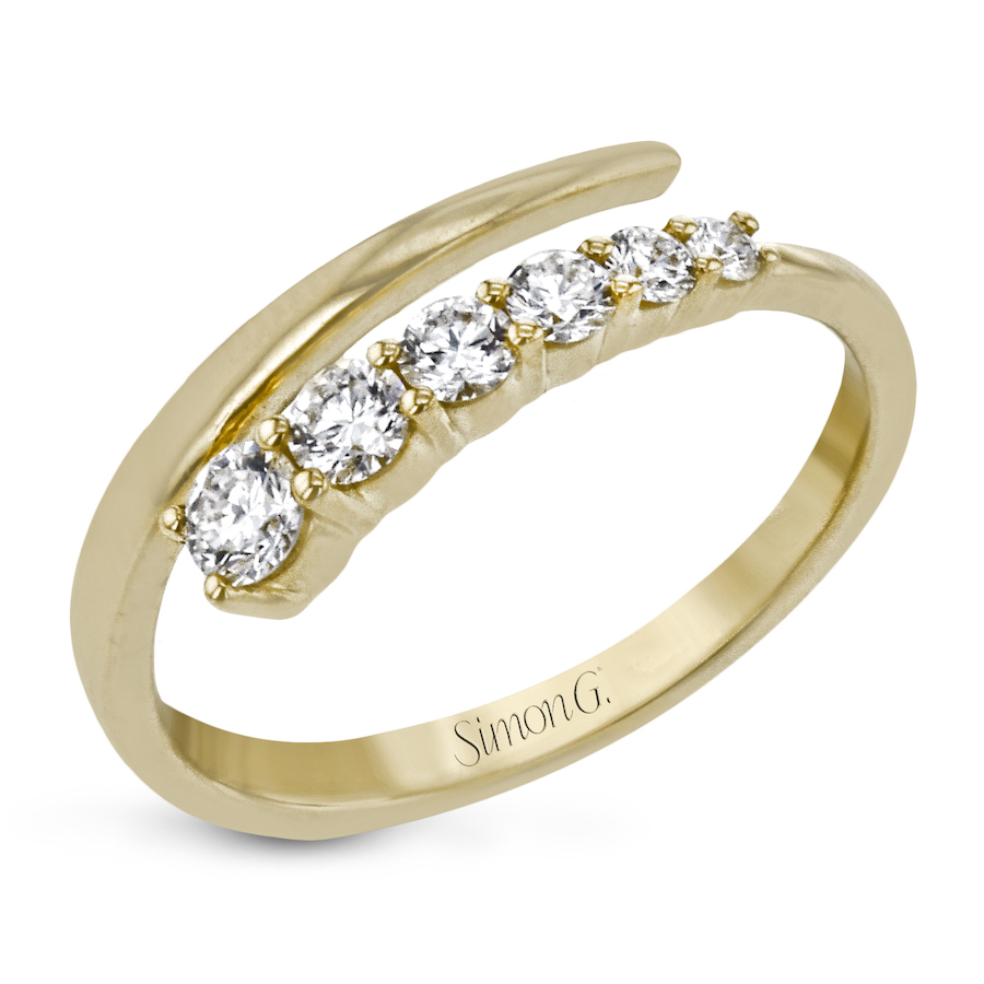 LR2499-Y yellow gold diamond ring