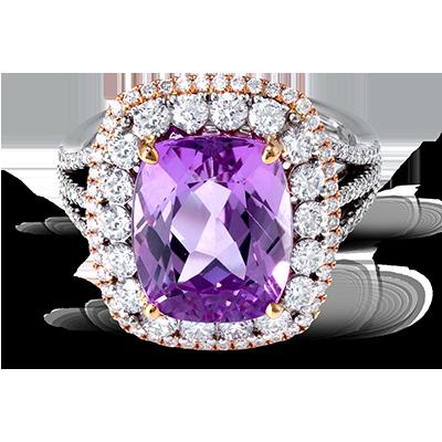 Simon G. purple white gold ring
