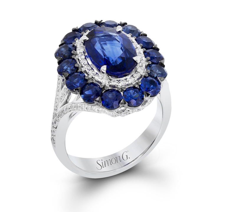 MR2687 sapphire white gold ring