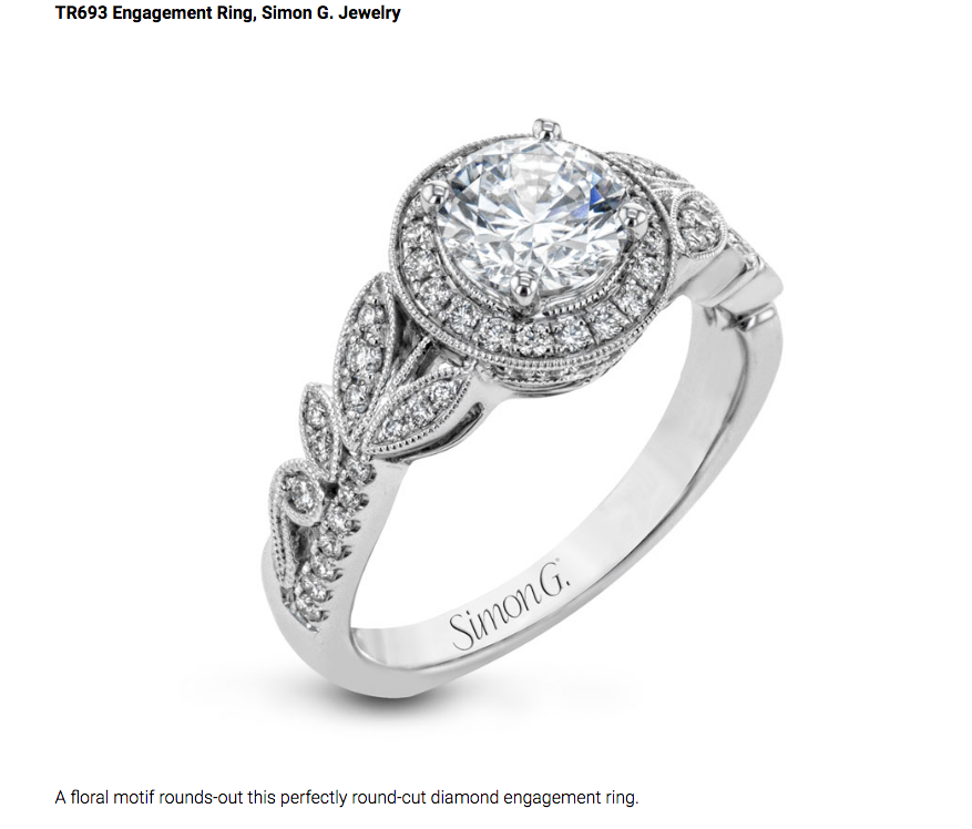 TR693 white gold engagement ring